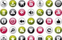 school,internet,four,color,icon