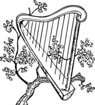 harp,branch,music,instrument,media,clip art,externalsource,public domain,image,png,svg