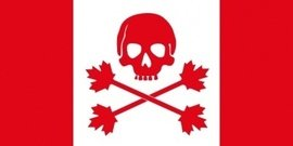 pirate,flag,canada,jolly roger,jollie rouge,skull,crossbones,cross bone,maple,maple leaf,leaf,piracy,cross bone