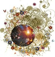 cher,chair,misc,object,crystal,ball,mirror,flower,floral,background,backdrop,swirl,grunge,illustration