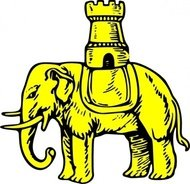 elephant,castle,heraldry,animal,media,clip art,externalsource,public domain,image,svg