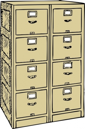 Vertical Cartoon Double File Files Drawers Cabinet Filing Multiple ...