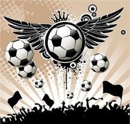 football,background,ball,wing,star