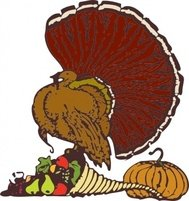 turkey,harvest,cornucopia,thanksgiving,food,holiday,media,clip art,externalsource,public domain,image,png,svg