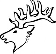 deer,head,outline,nature,mammal,animal,media,clip art,public domain,image,png,svg