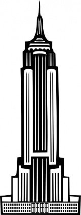 boort,deco,empire,state,building,nyc,new york,empire state,tower,art deco,black,white,media,clip art,public domain,image,svg,png