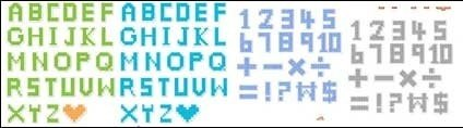 pixel,style,letter,number