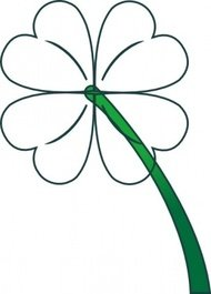 leaf,clover,gradient,cleanup,st patricks day,four,irish,plant