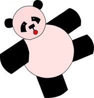 cartoon,panda,bear