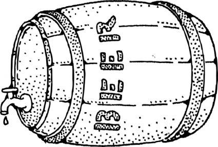 Beer Barrel Clip Art 388557 on modern cartoon