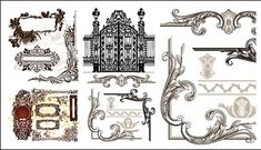 variety,practical,european,style,lace,pattern,vector,material