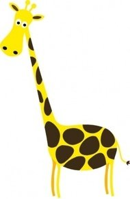 cartoon,giraffe
