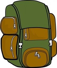 backpack,green,brown,remix,bag,hiking,trip,travel,luggage,outdoors,contour,colour,outline