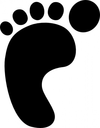 Benji baby black left right outline symbol hand people - Baby black and white shapes ...