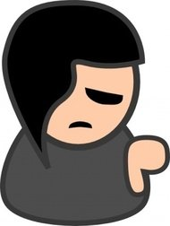 radacina,little,remix,people,emoticon,smiley,emo,simple,sad,black,man,person