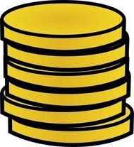 gold,coin,stack,clip