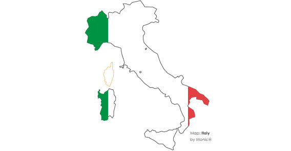 italy map with flag free vector clip arts  free clip art