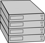 stacked,server,without,rack,clip