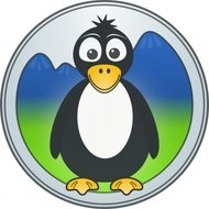penguin,mountain