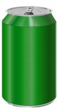 vectorscape,green,soda,can,colour,cylinder,food