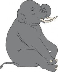 sitting,elephant,zoo,animal,media,clip art,public domain,image,png,svg