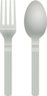 fork,spoon,clip