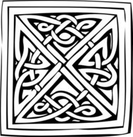 decorative,ornament,decoration,medieval,celtic,knotwork,black and white,outline