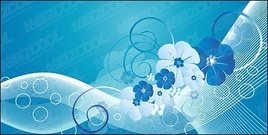blue,flower,lin,movement,material