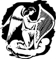 angel,playing,harp