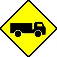 leomarc,caution,truck,sign,traffic,roadsign