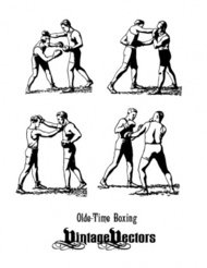 olde,time,boxer,classic,boxing,stance,punching,vintage,people,human,sport