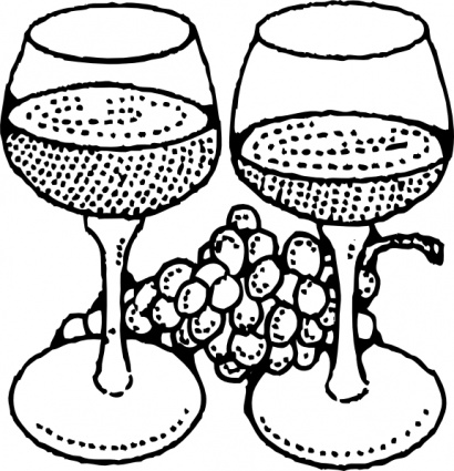Wine Glass Coloring Page - Bicchiere Di Vino Disegno - Free Transparent PNG  Clipart Images Download