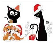 dog,cat,christmas