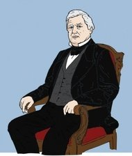 sitting,president,man,business,politics,colour,drawing,contour,famous-people,media,clip art,how i did it,public domain,image,png,svg,president