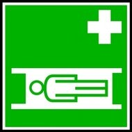 medical,stretcher,sign