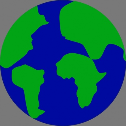 Jonadab earth with continents separated clip art clip arts clip art nature gumiabroncs Gallery