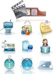 business,icon,board,clear,compass,customer service,globe,memo,movie,note,office,phone,production,service,telephone,user,white,work