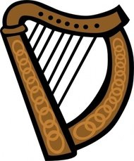 celtic,harp,music,instrument,colouring book,media,clip art,public domain,image,png,svg