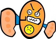 angry,character design,cute,cartoon,egg,head,media,clip art,public domain,image,png,svg