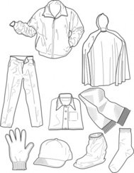 clothing,outline,sock,pant,jacket