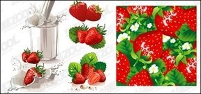 strawberry,milk,dynamic,vector,material
