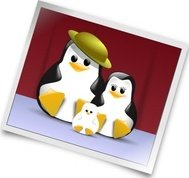 happy,penguin,family,photo,tux,snapshot,linux,operating system,logo,black,white,polaroid,unix,tuxedo,mascot,cute,open source,software,png,svg