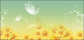 yellow,flower,butterfly,transparent,material