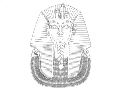 King tut vector clip arts free clip art for King tut mask template