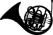 french,horn,silhouette