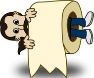 toilet,paper,roll,funny,people,character,comic,cartoon,human,guy,media,clip art,public domain,image,png,svg