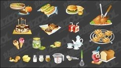 kitchen,utensil,fine,food,icon,material