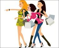 shopping,vector,woman