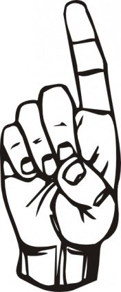 sign,language,finger,pointing,clip
