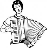woman,playing,accordeon,people,music,musical instrument,accordion,drawing,line art,black and white,contour,coloring book,outline,musical instrument,wikimedia common,psf